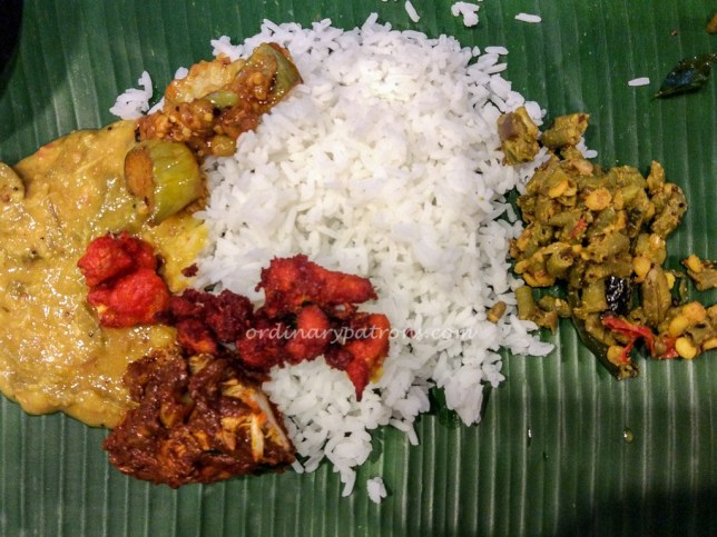 Banana Leaf Meal at Samy's Curry Indian Restaurant