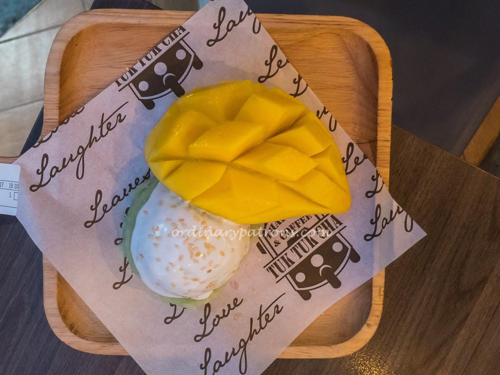 Mango Sticky Rice at Tuk Tuk Cha