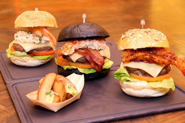 Gourmet Surf and Turf Burgers at Pacific Marketplace and Atrium, Pan Pacific Singapore