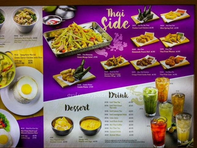 Menu of Bowl Thai restaurant in Chinatown Point