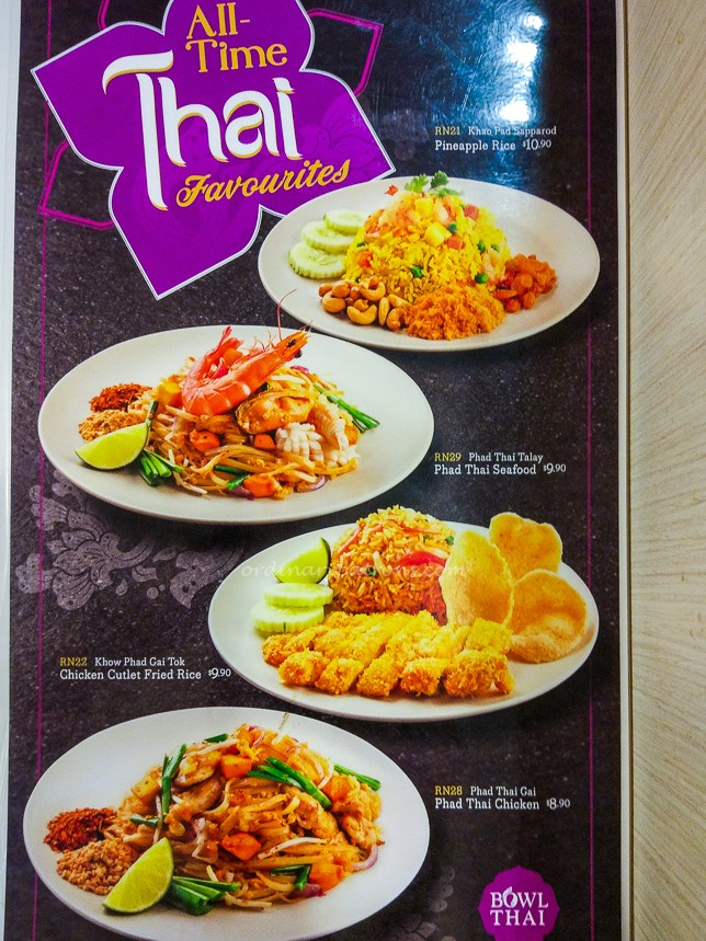 Bowl Thai Menu