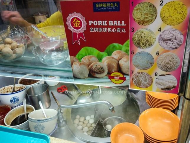 Lavender Teochew Fish Ball Noodles