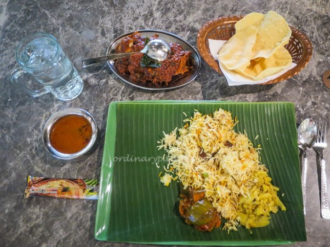 Banana Leaf Apolo Briyani and Chicken Masala