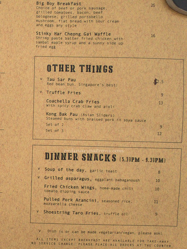 Forty Hands Menu
