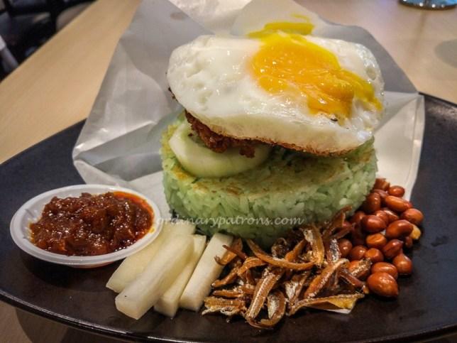 The Royals Cafe Nasi Lemak Burger