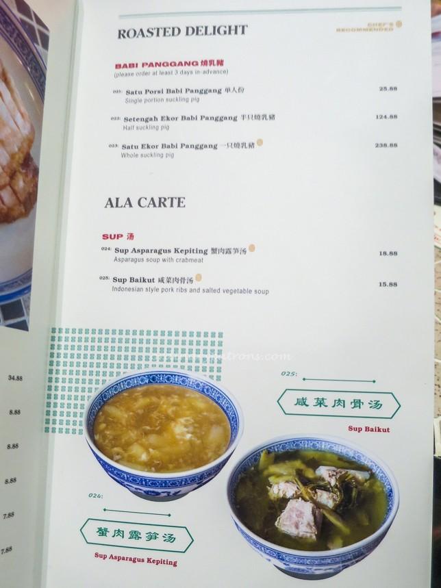 Kota88 Restaurant Menu
