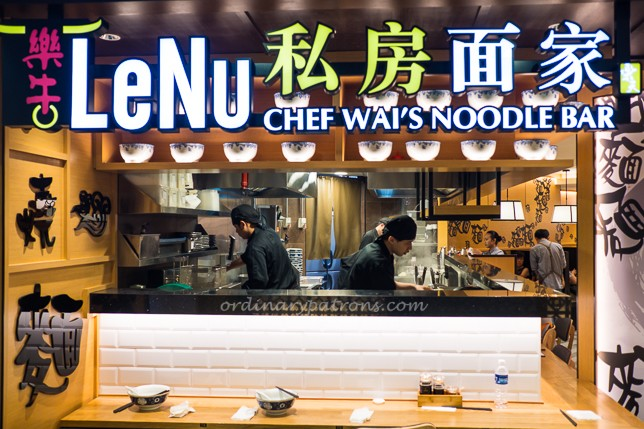 LeNu Chef Wai's Noodle Bar at Bugis Junction