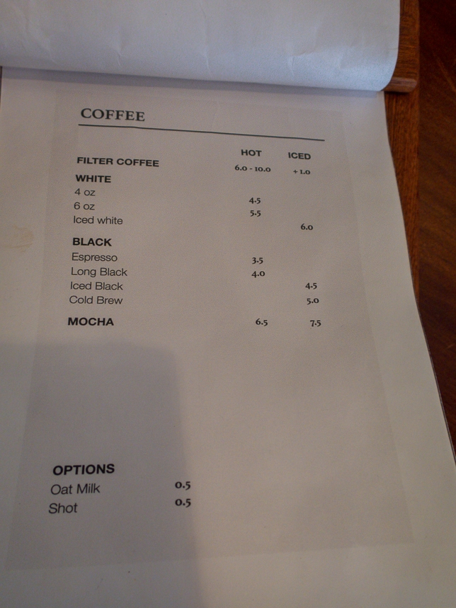 Homeground Coffee Roasters Menu Coffee