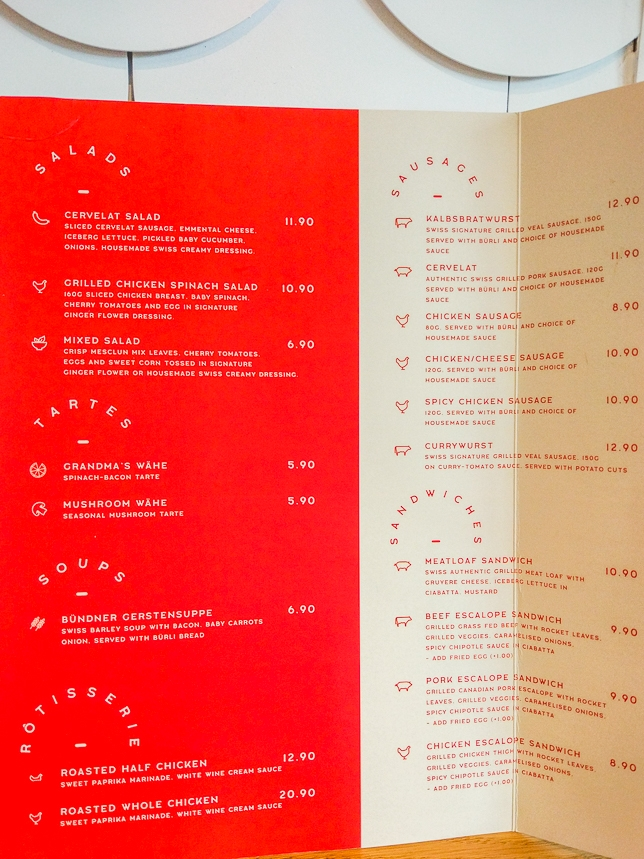 Menu of Wursthans in Singapore