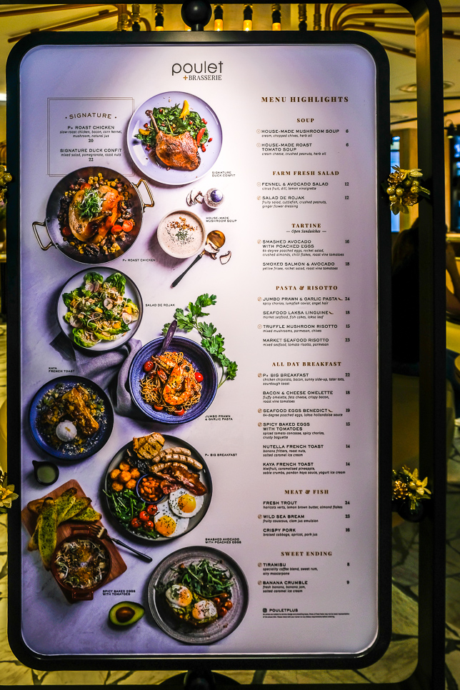 Highlights of Menu of Poulet + Brasserie