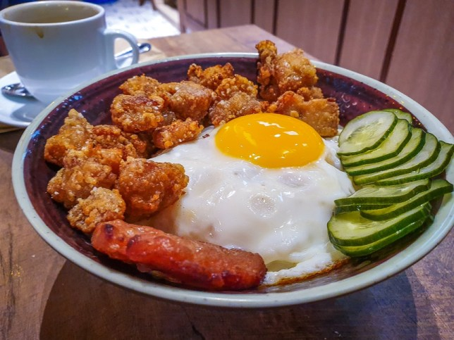 Popcorn chicken Rice Bowl at Fong Sheng Hao Singapore