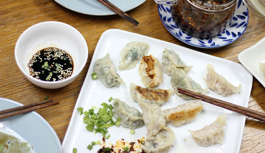 Enjoy the dumpling feast!