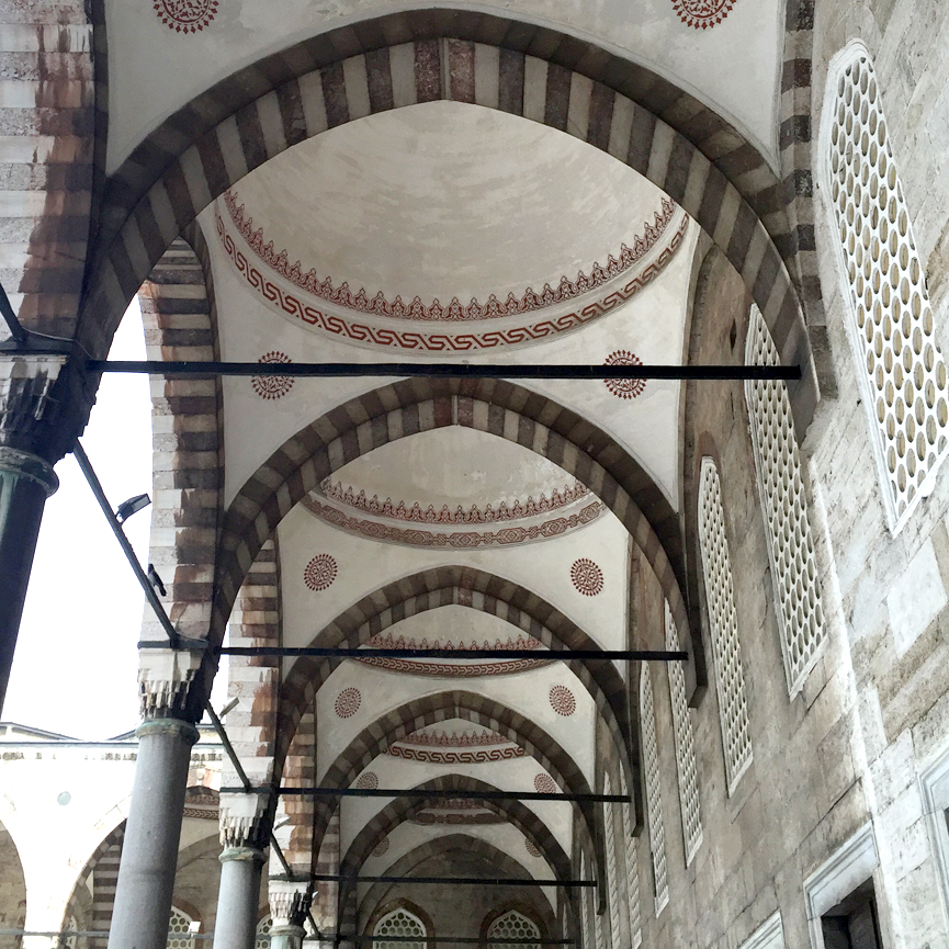 Istanbul Sultanahmet Blue Mosque Courtyard walkway