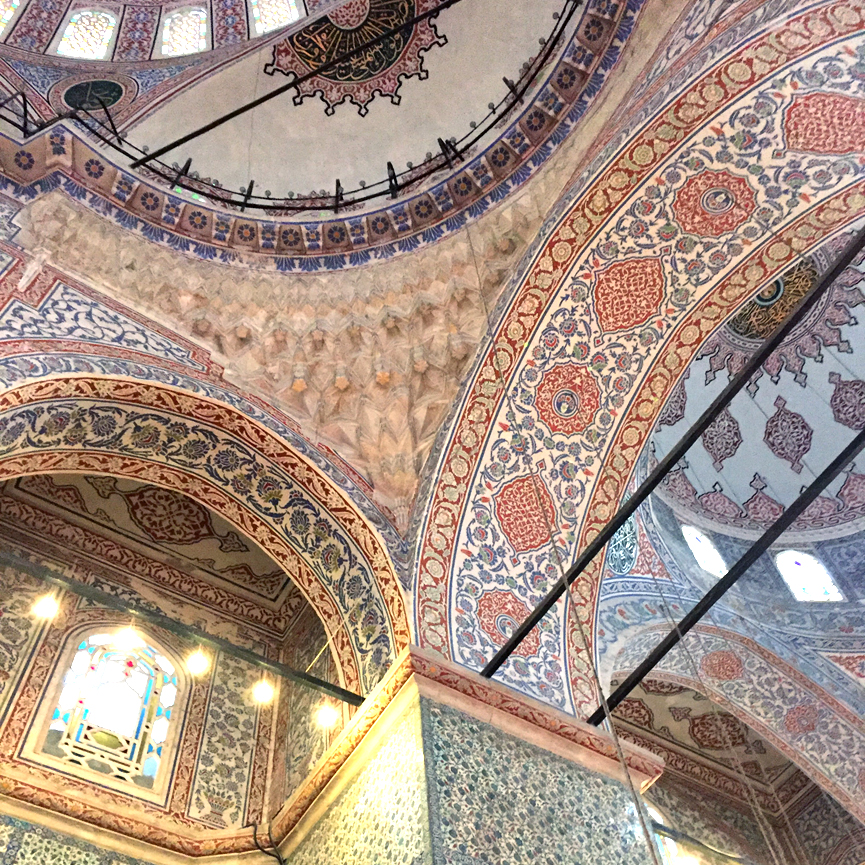 Tiled ceiling of the Blue Mosque