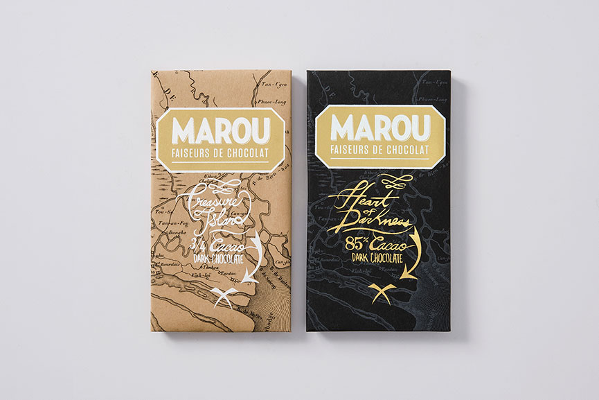 Marou Chocolate Treasure Island and Heart of Darkness bars