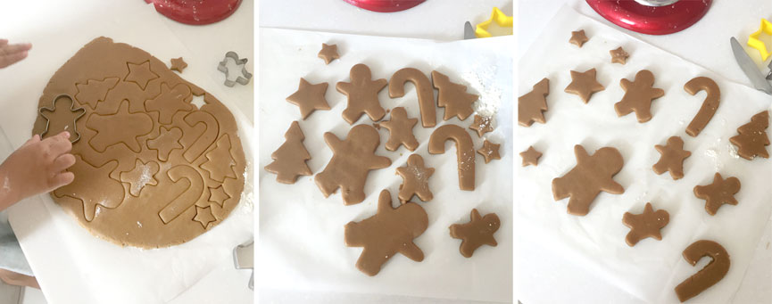 Cookie cutter gingerbread shapes