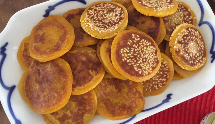 pumpkin glutinous rice cakes