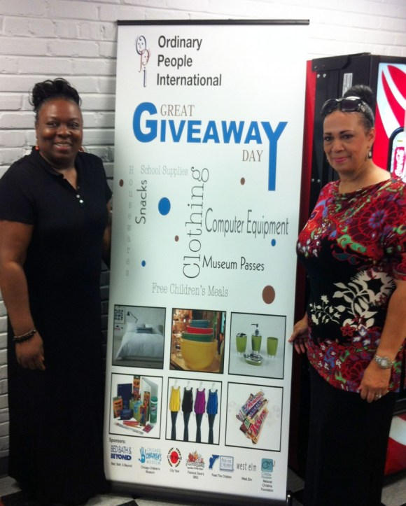 Executive Director Tami Smith pictured with Valerie Mosely for August 25th Giveaway Event