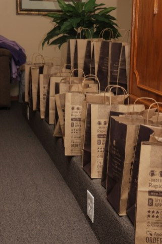 A special thank you to the Panera Bread Store Manager, Richard Howard (located at 2 North Michigan), for donating the paper bags for our toy distribution.