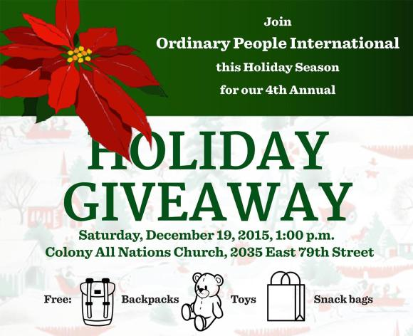 Ordinary People International Holiday Giveaway