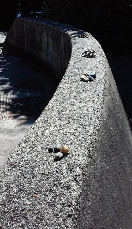 Piles of stones.