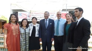 Our CBT with Ambassador Bush and Country Director Ellen