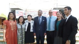 Our CBT group with Ambassador Bush and Peace Corps Director Ellen Paquette