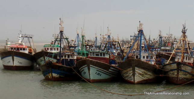 Large fishing boats