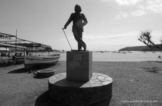 A statue of Salvador Dali in the bay