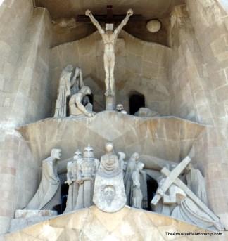 Outside Sagrada Família
