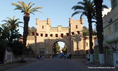 The main gate to the former Portuguese administration area.
