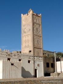 Ornate minaret