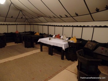 The dining tent