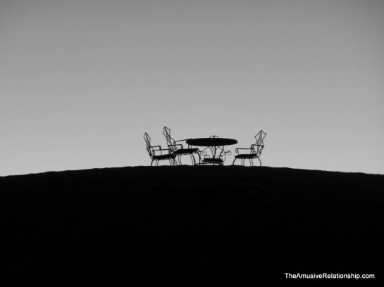 Breakfast at dawn atop a dune