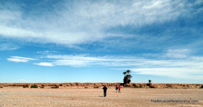 Marching across the dry river bed