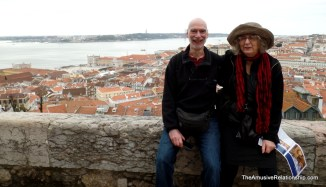 Normal and Andrea at São Jorge Castle