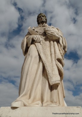 Statue of a saint, I forget which one