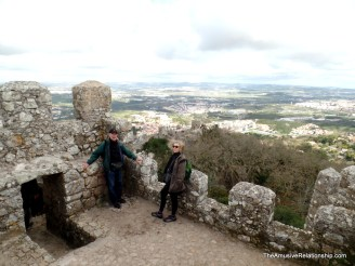 My friends Norman and Andrea atop the Castle of the Moors
