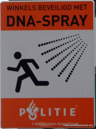 Apparently, thieves are sprayed with DNA to track them.
