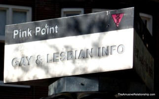 Gay and Lesbian information booth downtown