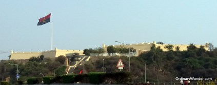The old Portuguese fort overlooking the city.