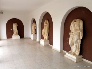 Roman statues inside the museum