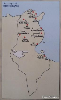 Map of Roman cities