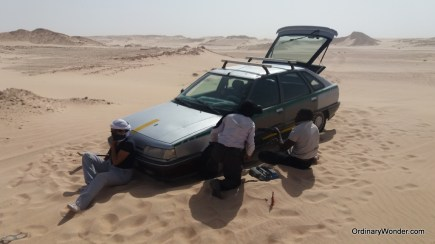 Stuck in the sand
