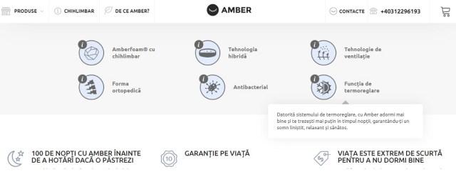 saltea Amber-calitati
