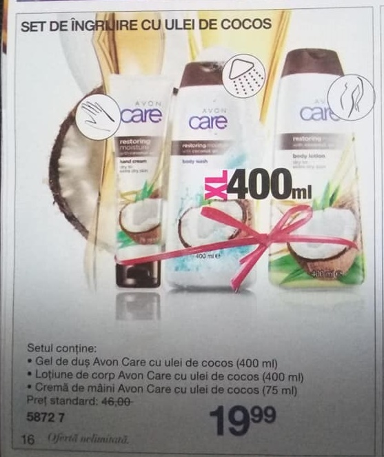 Set avon care cocos