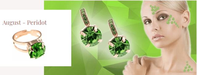 bijuterii cu peridot