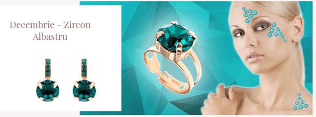 bijuterii cu zircon albastru