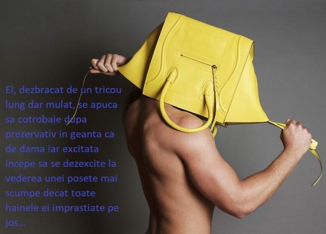geanta pusa in cap de barbat