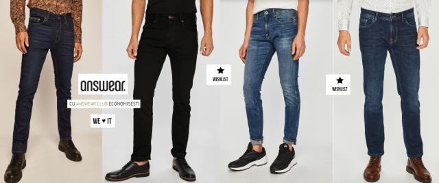 jeansi barbati an
